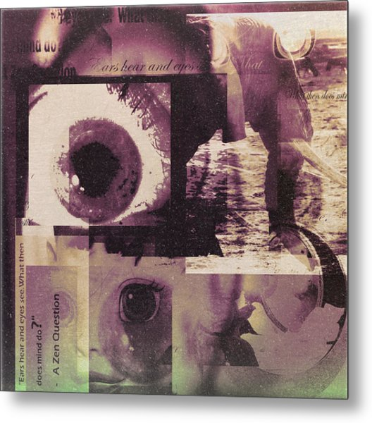 What Does The Eye See Metal Print