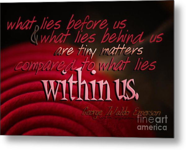 What Lies Within Us Metal Print