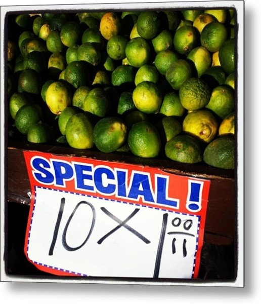 Metal Print featuring the photograph What Lime Shortage? #dontbelievethehype by Mr Photojimsf