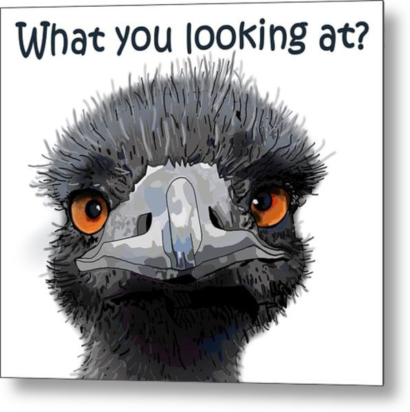 What You Looking At? Metal Print