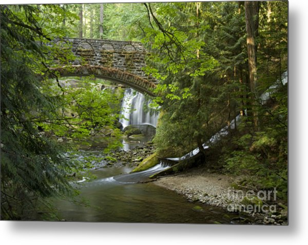 Whatcom Falls Bridge Metal Print