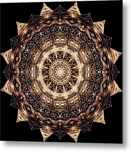 Wheel Of Life Mandala Metal Print