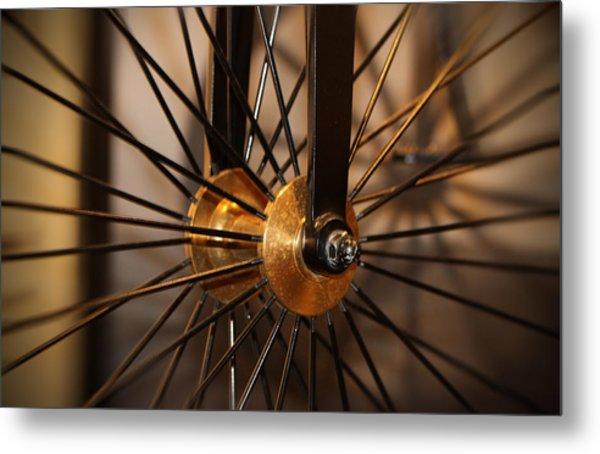 Wheel Spokes  Metal Print