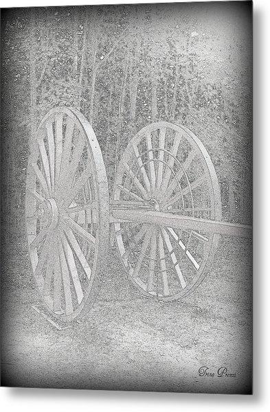 Wheels Metal Print by Trina Prenzi