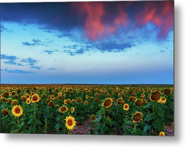 Metal Print featuring the photograph When Clouds Dance by John De Bord