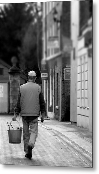 when I'm cleaning windows Metal Print by Jez C Self