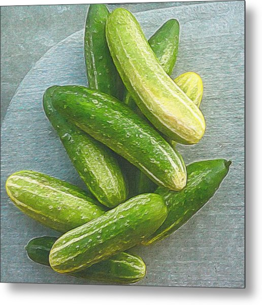 When Life Brings You Cucumbers Metal Print