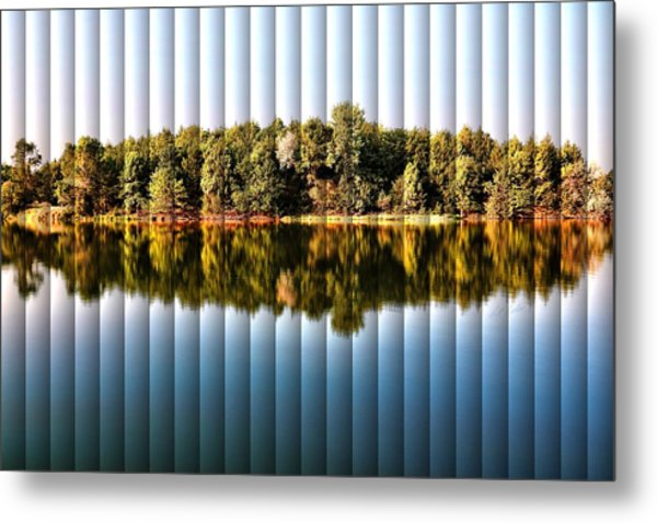 When Nature Reflects - The Slat Collection Metal Print