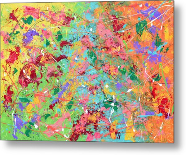 When Pollock Was Happy Metal Print
