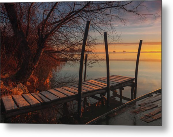 When The Light Touches The Shore Metal Print