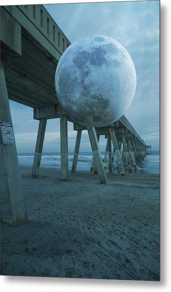 Waning Moon Metal Print
