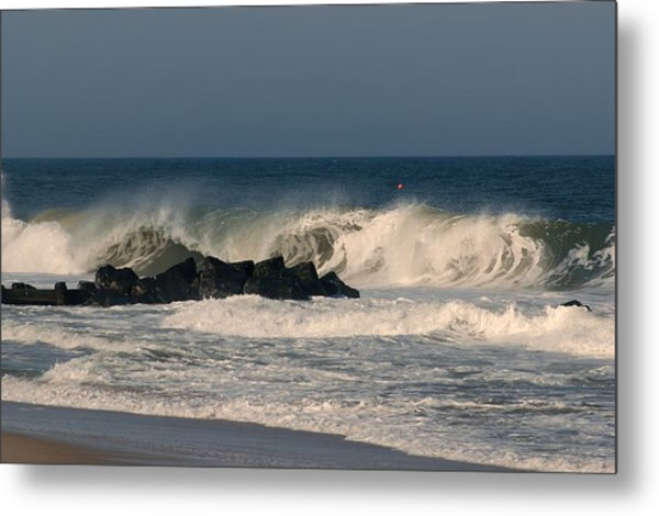 When The Ocean Speaks - Jersey Shore Metal Print
