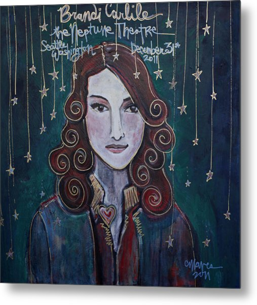 When The Stars Fall For Brandi Carlile Metal Print