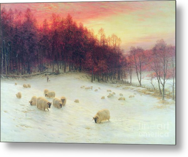 When The West With Evening Glows Metal Print