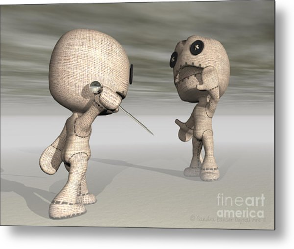 When Toys Go Bad Metal Print by Sandra Bauser Digital Art