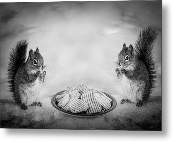 When You Lose Your Nuts There Is Always Chips Metal Print