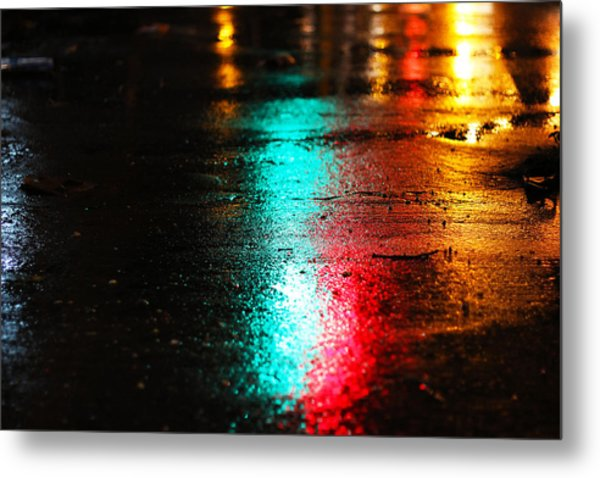Whenever It Rains Metal Print