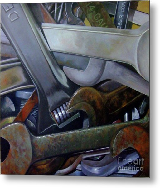 Where Have All The Mechanics Gone Metal Print