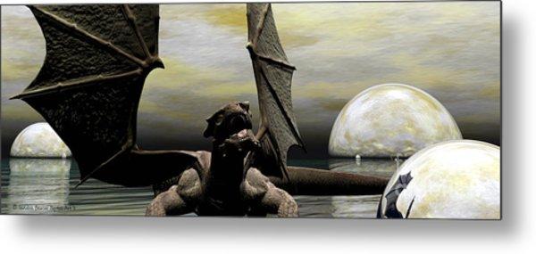 Where Dragons Be Metal Print by Sandra Bauser Digital Art
