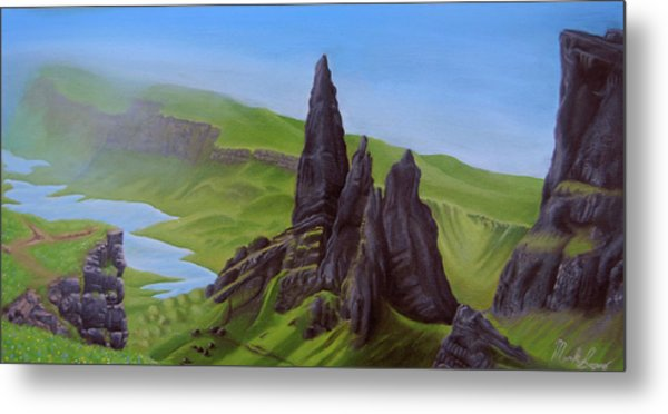 Where Giants Roam The Skye Metal Print