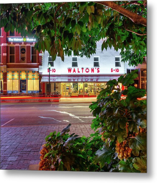 Metal Print featuring the photograph Where It All Began - Sam Walton's First Store - Bentonville Arkansas by Gregory Ballos