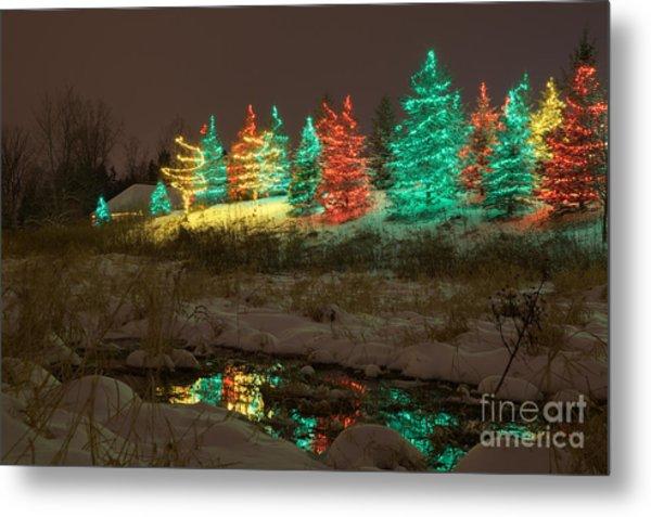 Whimsical Christmas Lights Metal Print