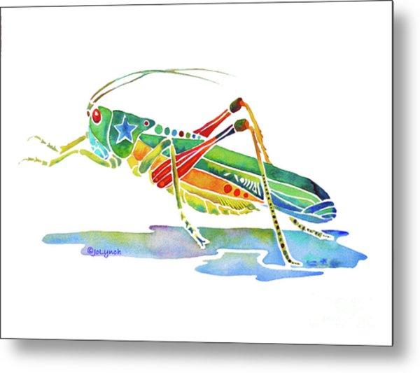 Whimsical Grasshopper  Metal Print