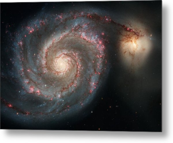 Whirlpool Galaxy And Companion  Metal Print