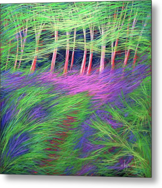Metal Print featuring the painting Whisper The Wind by Angela Treat Lyon