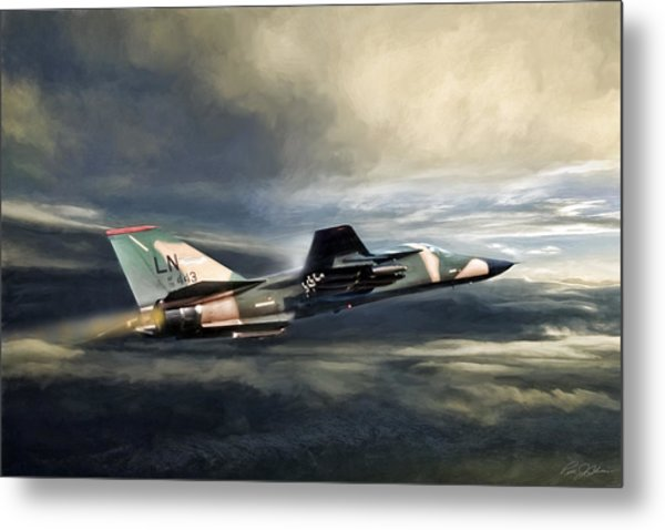 Whispering Death F-111 Metal Print
