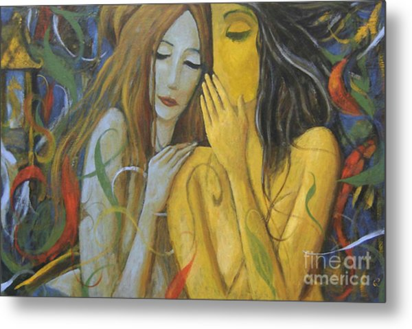 Whispering Mermaids Metal Print