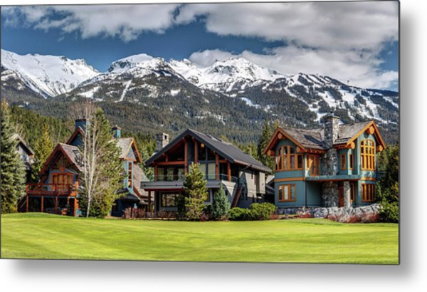 Metal Print featuring the photograph Whistler Luxury Homes On Nicklaus North  by Pierre Leclerc Photography
