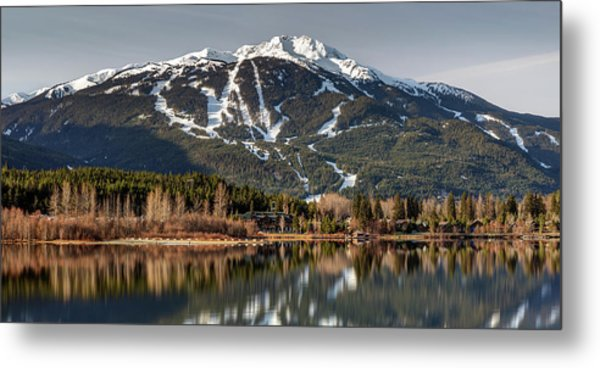 Metal Print featuring the photograph Whistler Mountain Reflection Panorama by Pierre Leclerc Photography