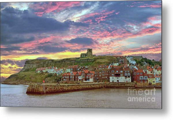 Whitby Abbey Uk Metal Print