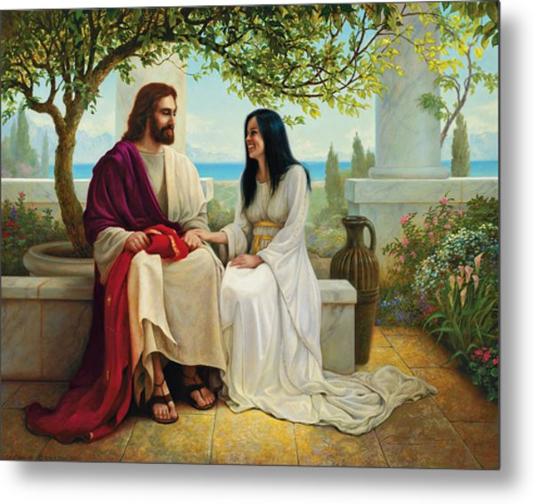 Metal Print featuring the painting White As Snow by Greg Olsen