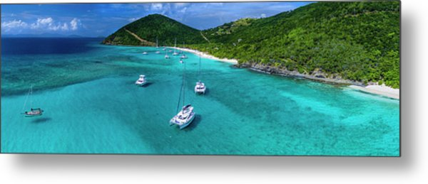 White Bay Metal Print
