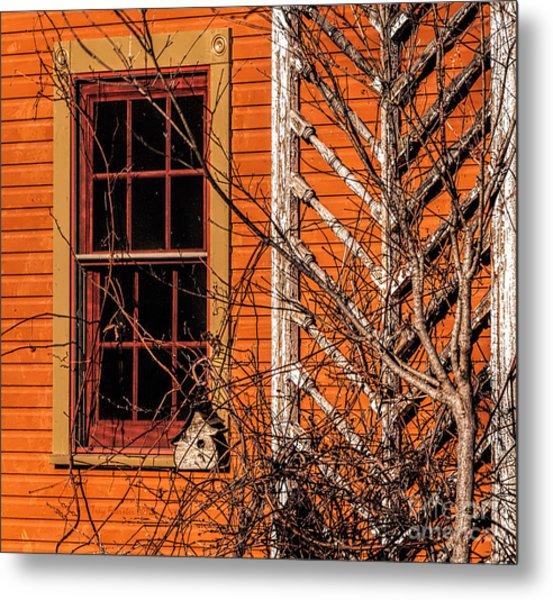 White Bird House Metal Print