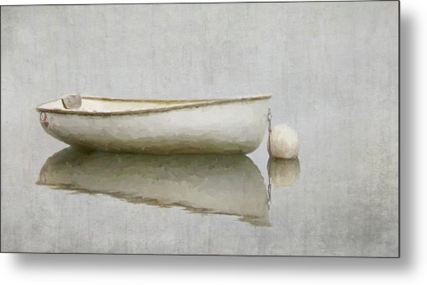 White Boat Metal Print