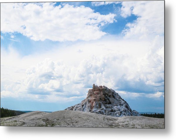 White Dome Geyser Metal Print