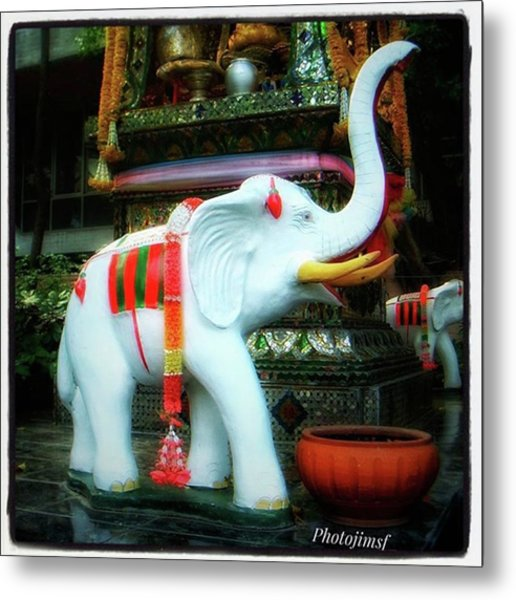Metal Print featuring the photograph White Elephant. Meaning A Big Expensive by Mr Photojimsf