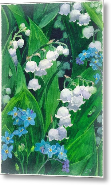 White Lilies Of The Valley Metal Print