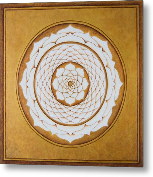 White Lotus Eye Metal Print