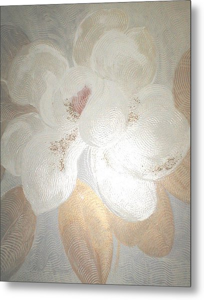 White Magnolia Metal Print by Marja Koskinen-Talavera