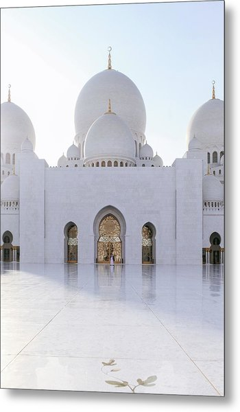 White Mosque Metal Print