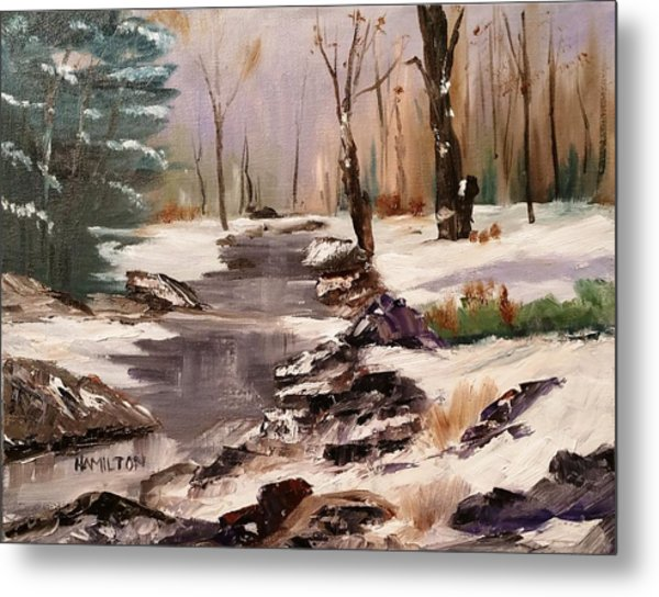 White Mountains Creek Metal Print