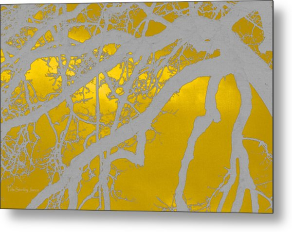 White Oak -yellow Orange Metal Print