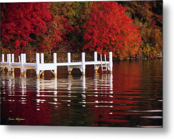 White Pier - Lake Geneva Wisconsin Metal Print