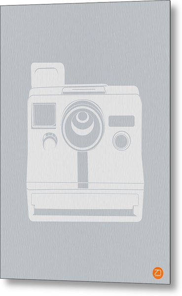 White Polaroid Camera Metal Print