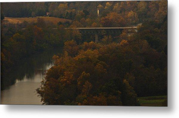 White River Foliage Metal Print