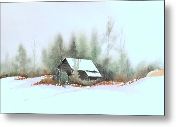 White Roof Metal Print by William Renzulli